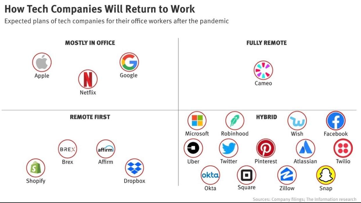 grafico de the information mostrando las empresas analizadas en el estudio